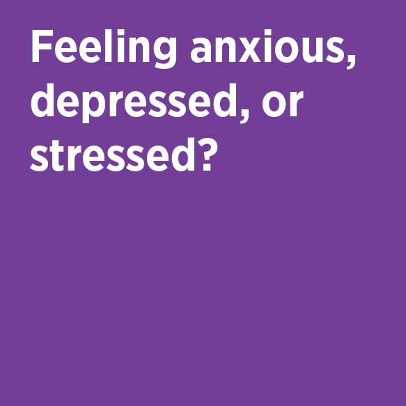 Feeling anxious, depressed, or stressed? Counseling Center Phone 824-6457 Location 203 Student Services 1